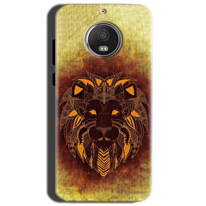 Motorola Moto G5S Mobile Covers Cases Lion face art - Lowest Price - Paybydaddy.com