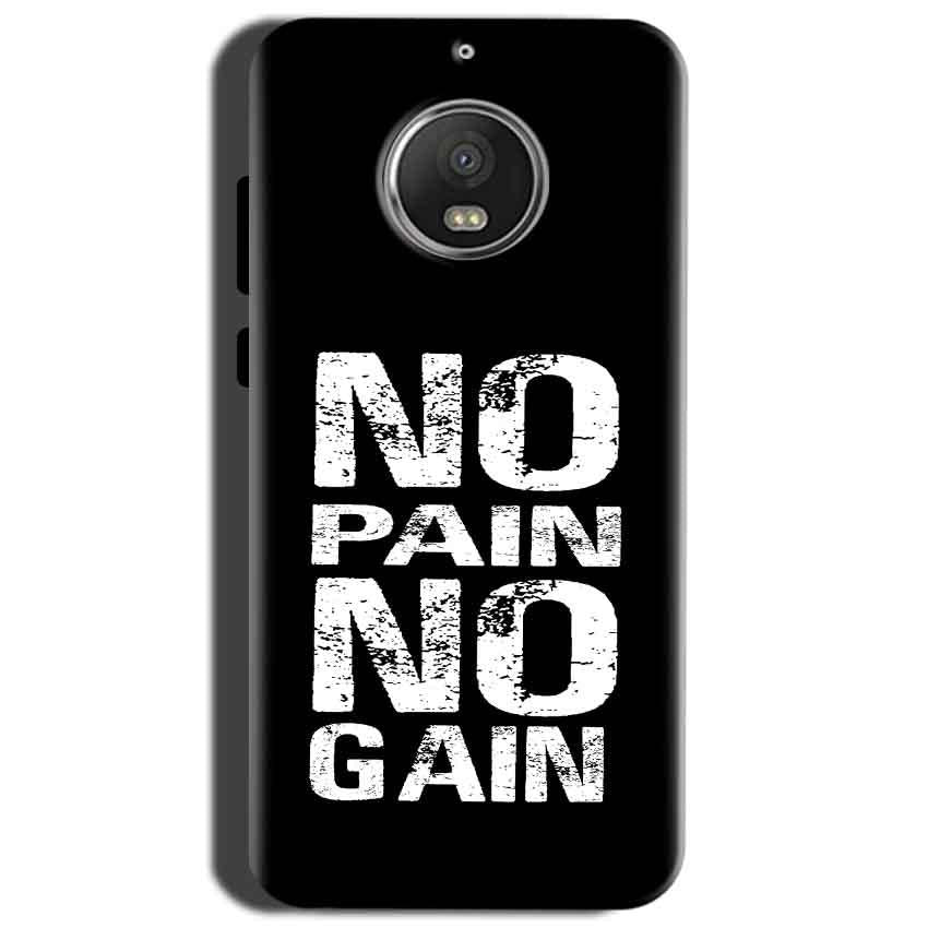 Motorola Moto G5S Mobile Covers Cases No Pain No Gain Black And White - Lowest Price - Paybydaddy.com