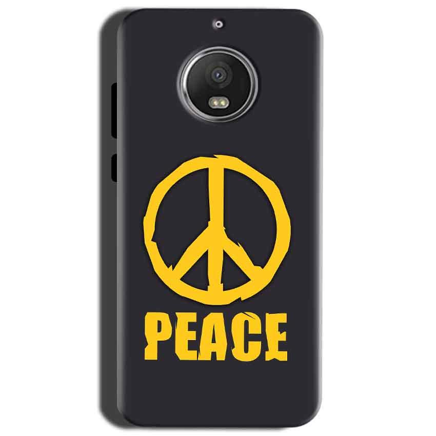 Motorola Moto G5S Mobile Covers Cases Peace Blue Yellow - Lowest Price - Paybydaddy.com