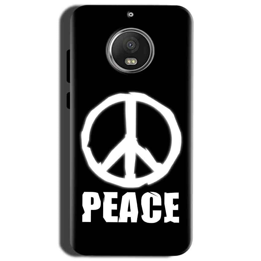 Motorola Moto G5S Mobile Covers Cases Peace Sign In White - Lowest Price - Paybydaddy.com