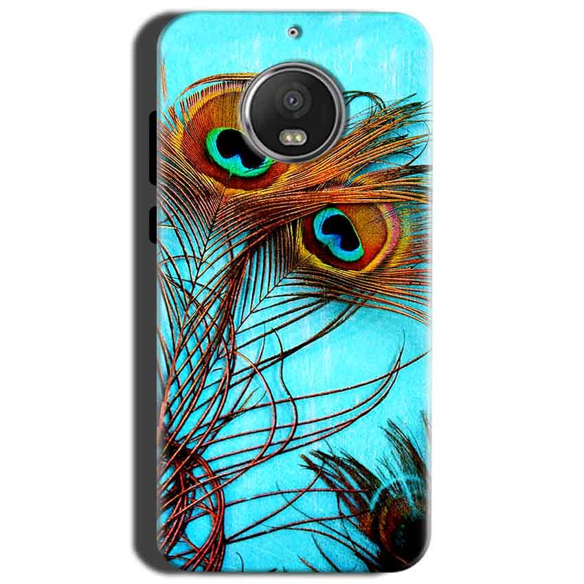 Motorola Moto G5S Mobile Covers Cases Peacock blue wings - Lowest Price - Paybydaddy.com