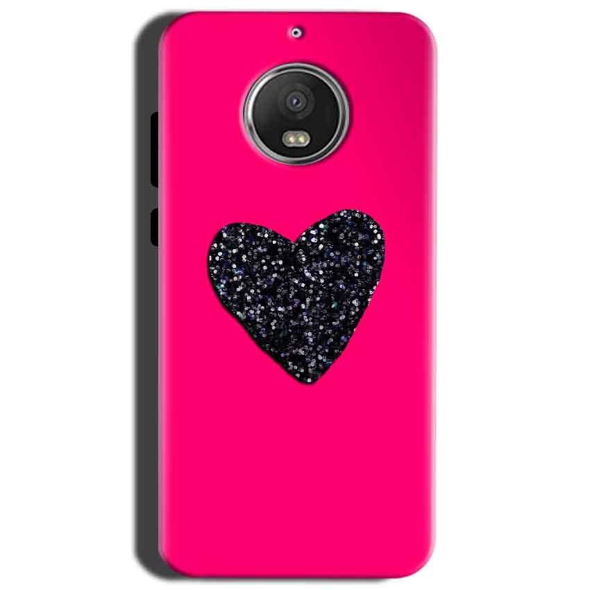 Motorola Moto G5S Mobile Covers Cases Pink Glitter Heart - Lowest Price - Paybydaddy.com