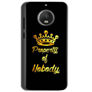 Motorola Moto G5S Mobile Covers Cases Property of nobody with Crown - Lowest Price - Paybydaddy.com