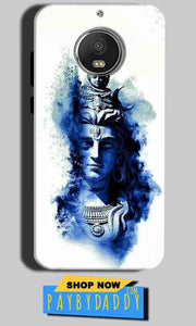 Motorola Moto G5S Mobile Covers Cases Shiva Blue White - Lowest Price - Paybydaddy.com