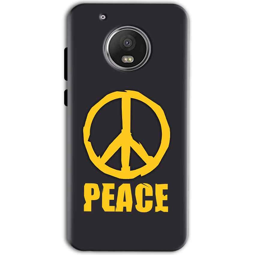 Motorola Moto G5 Mobile Covers Cases Peace Blue Yellow - Lowest Price - Paybydaddy.com