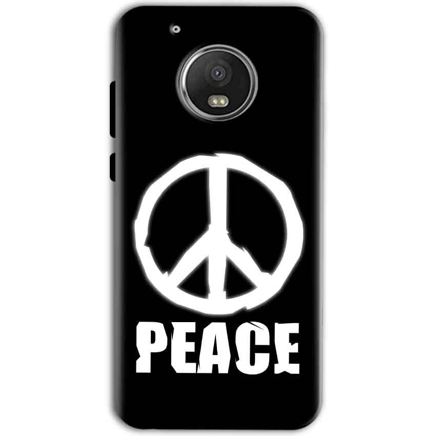 Motorola Moto G5 Mobile Covers Cases Peace Sign In White - Lowest Price - Paybydaddy.com