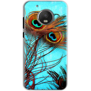 Motorola Moto G5 Mobile Covers Cases Peacock blue wings - Lowest Price - Paybydaddy.com