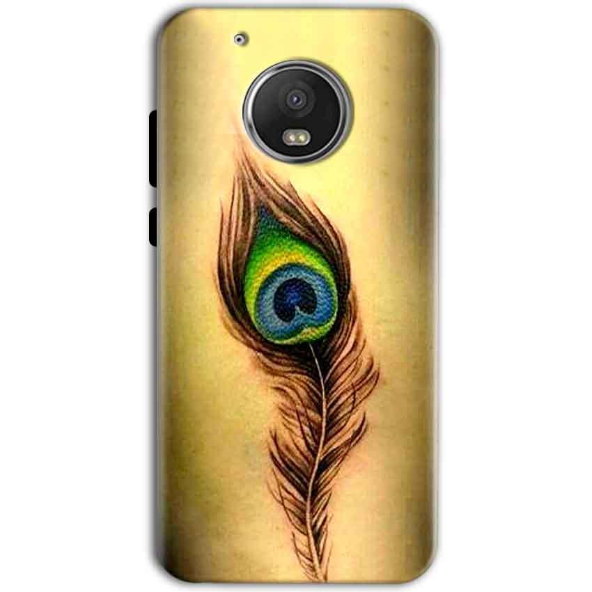 Motorola Moto G5 Mobile Covers Cases Peacock coloured art - Lowest Price - Paybydaddy.com