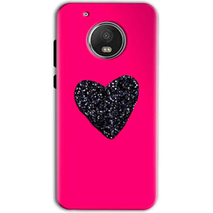 Motorola Moto G5 Mobile Covers Cases Pink Glitter Heart - Lowest Price - Paybydaddy.com