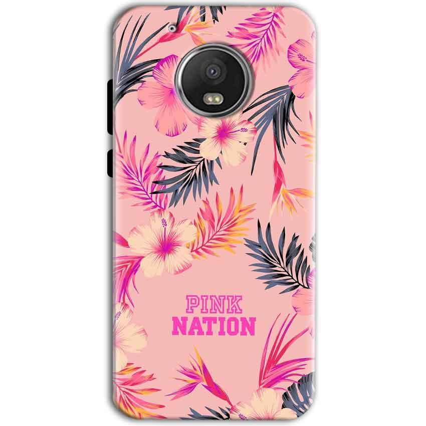 Motorola Moto G5 Mobile Covers Cases Pink nation - Lowest Price - Paybydaddy.com