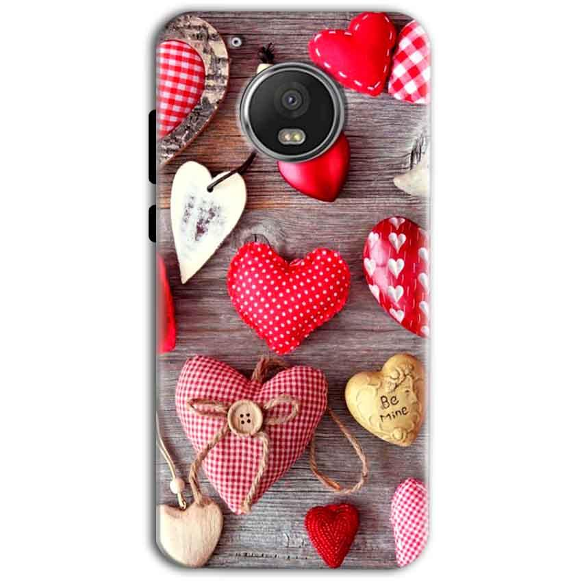 Motorola Moto G5 Plus Mobile Covers Cases Hearts- Lowest Price - Paybydaddy.com