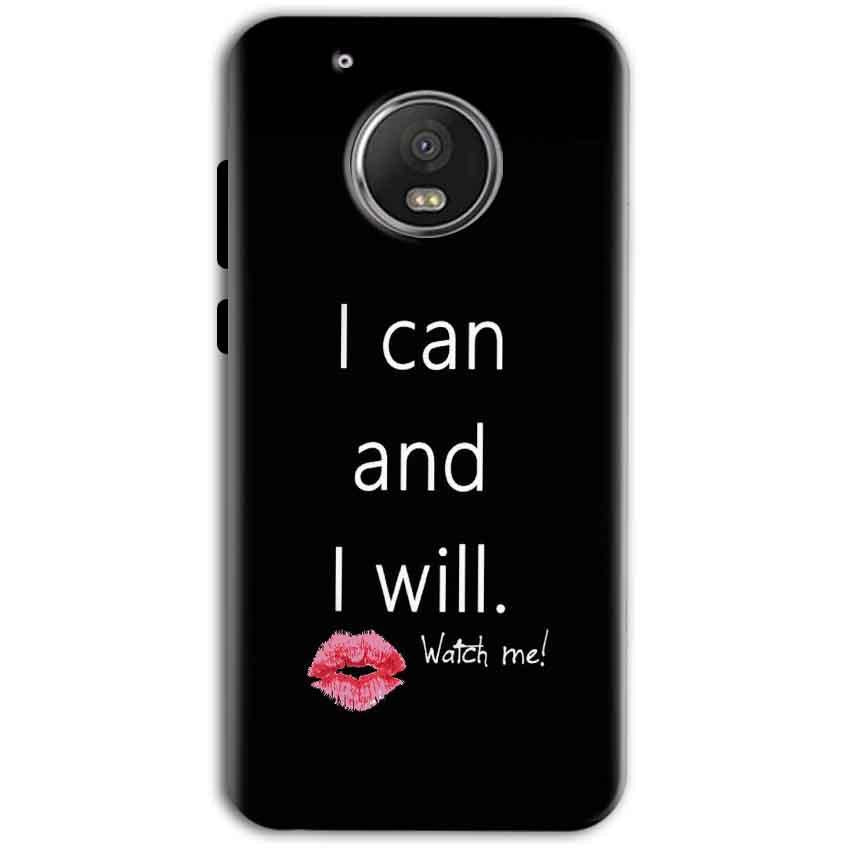 Motorola Moto G5 Plus Mobile Covers Cases i can and i will Lips - Lowest Price - Paybydaddy.com