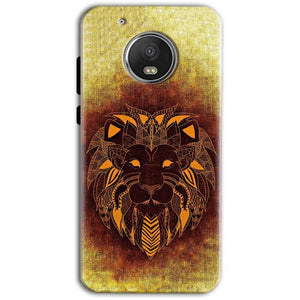 Motorola Moto G5 Plus Mobile Covers Cases Lion face art - Lowest Price - Paybydaddy.com