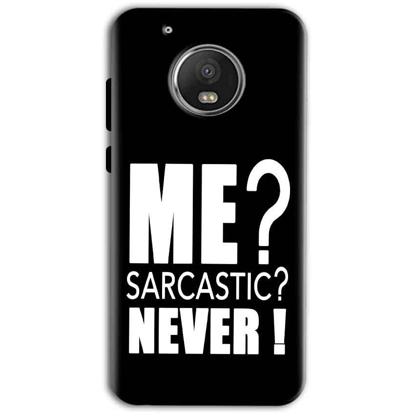 Motorola Moto G5 Plus Mobile Covers Cases Me sarcastic - Lowest Price - Paybydaddy.com