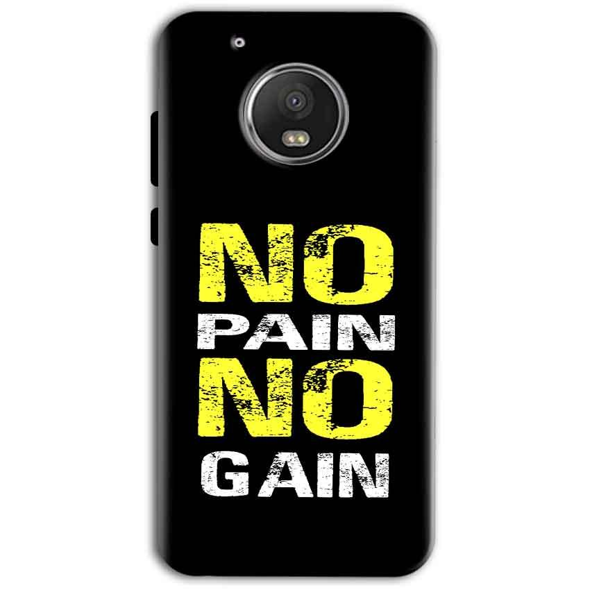 Motorola Moto G5 Plus Mobile Covers Cases No Pain No Gain Yellow Black - Lowest Price - Paybydaddy.com