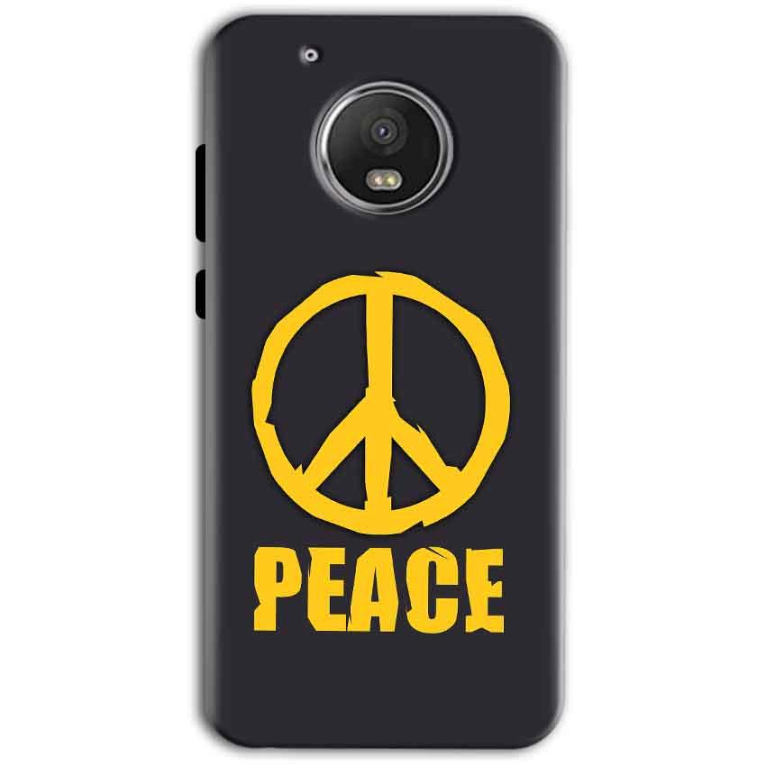Motorola Moto G5 Plus Mobile Covers Cases Peace Blue Yellow - Lowest Price - Paybydaddy.com