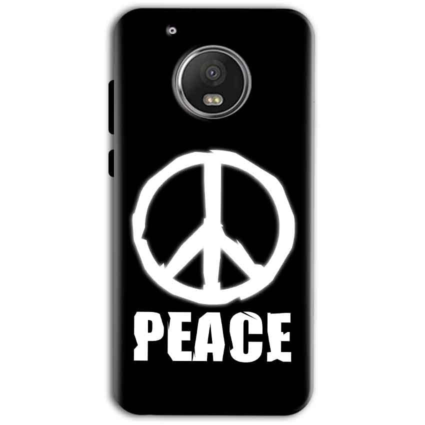 Motorola Moto G5 Plus Mobile Covers Cases Peace Sign In White - Lowest Price - Paybydaddy.com