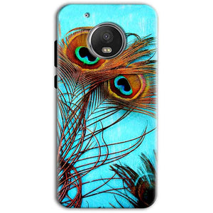 Motorola Moto G5 Plus Mobile Covers Cases Peacock blue wings - Lowest Price - Paybydaddy.com