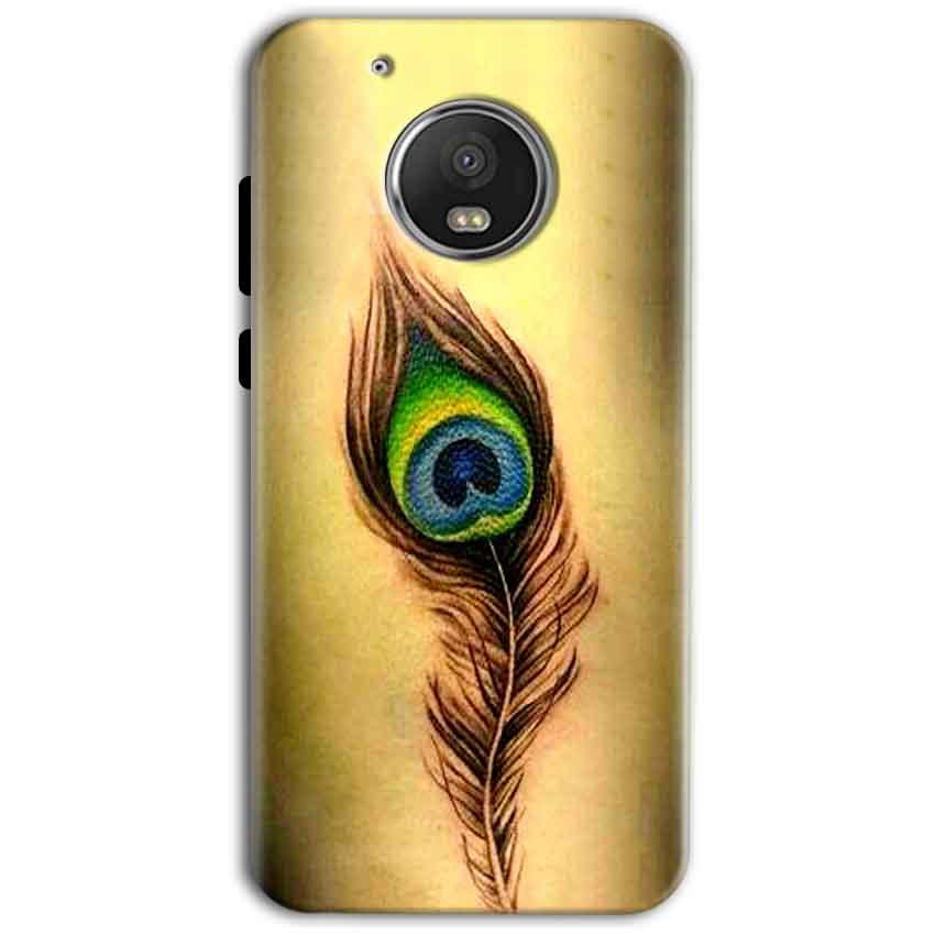 Motorola Moto G5 Plus Mobile Covers Cases Peacock coloured art - Lowest Price - Paybydaddy.com