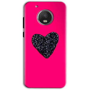 Motorola Moto G5 Plus Mobile Covers Cases Pink Glitter Heart - Lowest Price - Paybydaddy.com