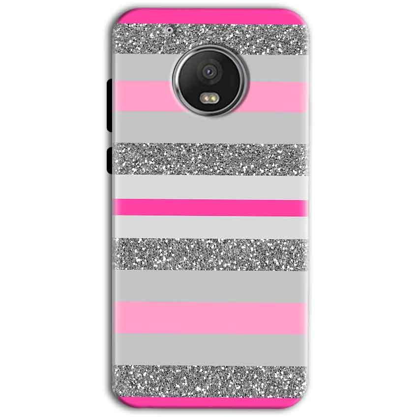 Motorola Moto G5 Plus Mobile Covers Cases Pink colour pattern - Lowest Price - Paybydaddy.com