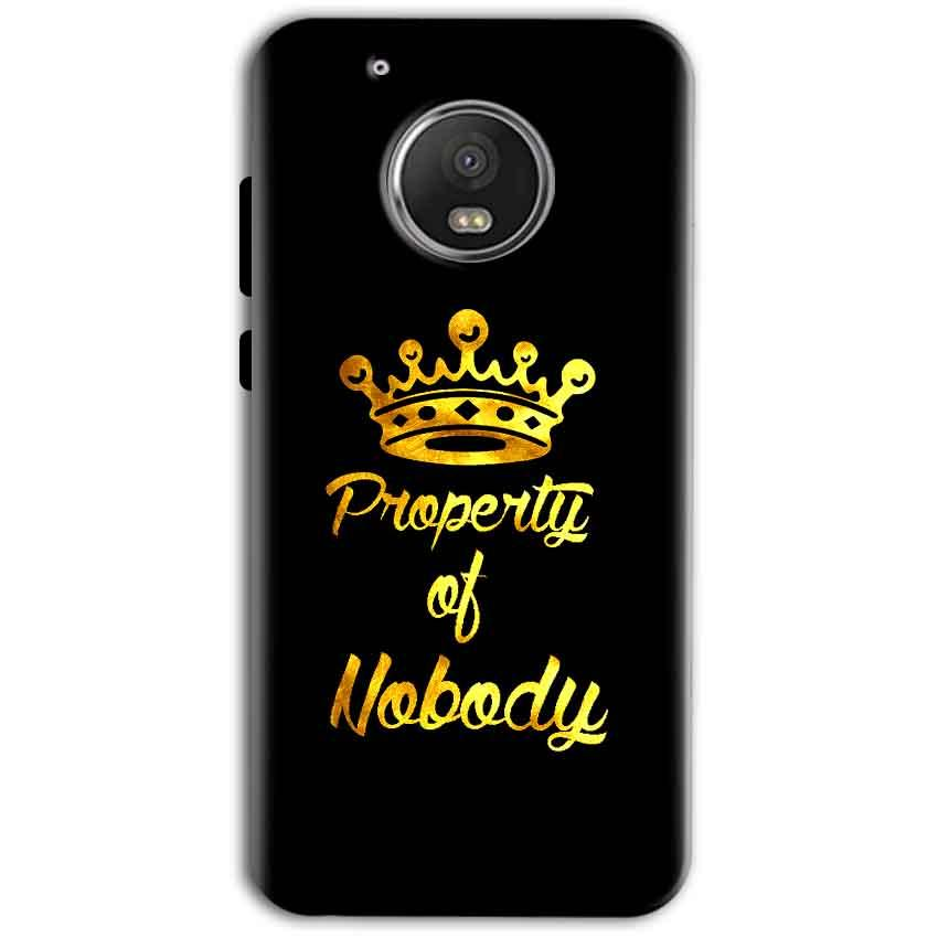 Motorola Moto G5 Plus Mobile Covers Cases Property of nobody with Crown - Lowest Price - Paybydaddy.com