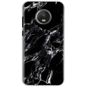 Motorola Moto G5 Plus Mobile Covers Cases Pure Black Marble Texture - Lowest Price - Paybydaddy.com