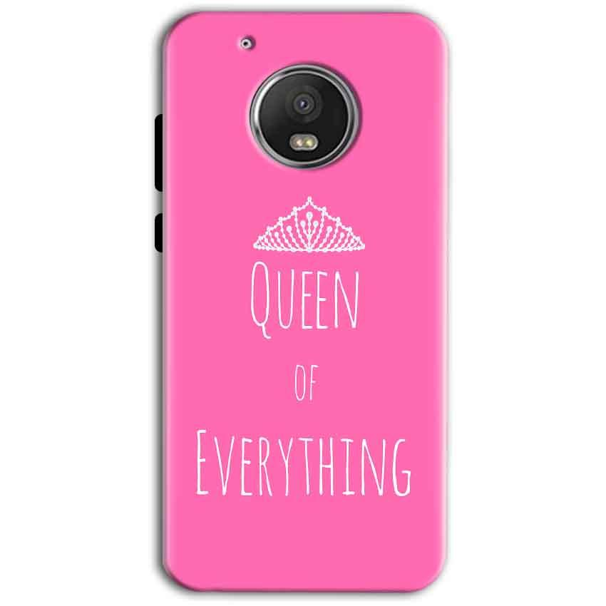 Motorola Moto G5 Plus Mobile Covers Cases Queen Of Everything Pink White - Lowest Price - Paybydaddy.com