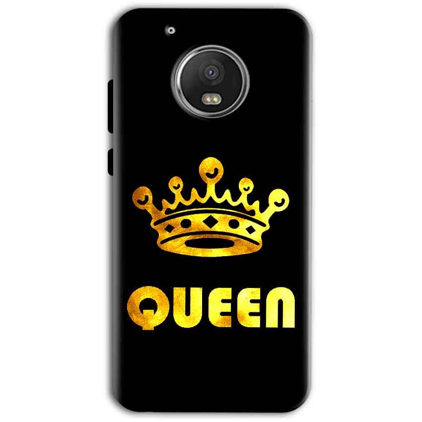 Motorola Moto G5 Plus Mobile Covers Cases Queen With Crown in gold - Lowest Price - Paybydaddy.com