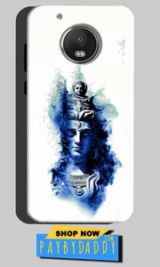 Motorola Moto G5 Plus Mobile Covers Cases Shiva Blue White - Lowest Price - Paybydaddy.com