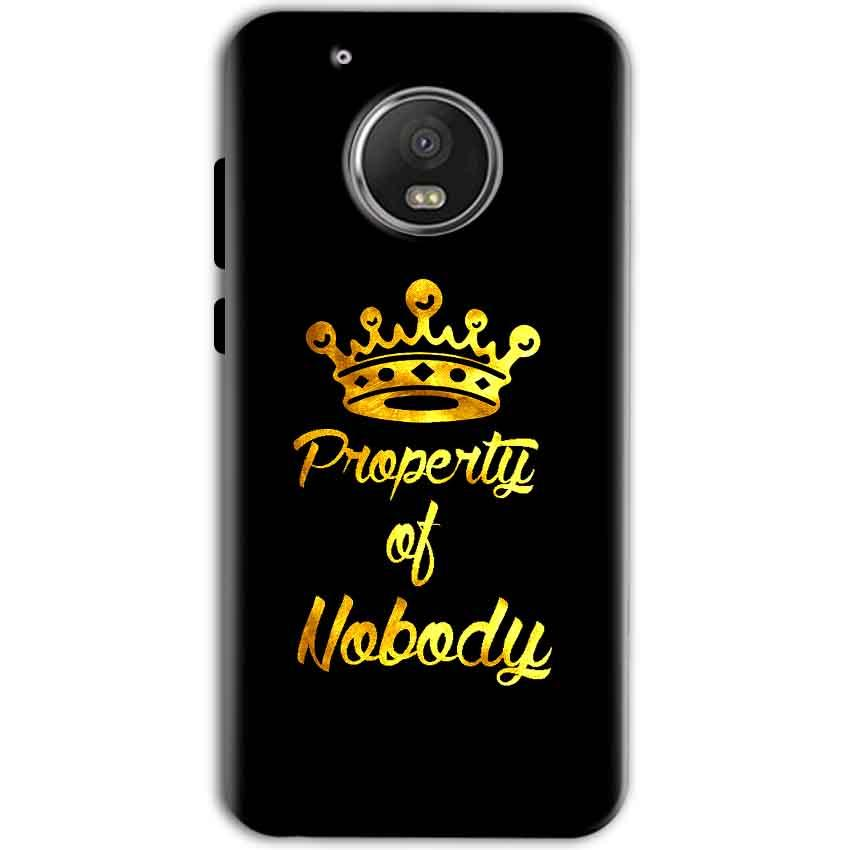 Motorola Moto G5 Mobile Covers Cases Property of nobody with Crown - Lowest Price - Paybydaddy.com