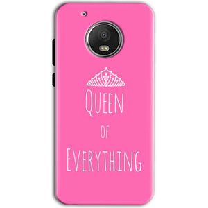 Motorola Moto G5 Mobile Covers Cases Queen Of Everything Pink White - Lowest Price - Paybydaddy.com