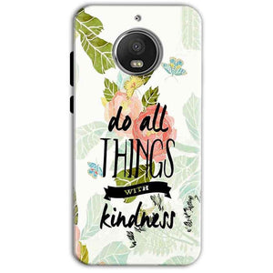 Motorola Moto G5 S Plus Mobile Covers Cases Do all things with kindness - Lowest Price - Paybydaddy.com