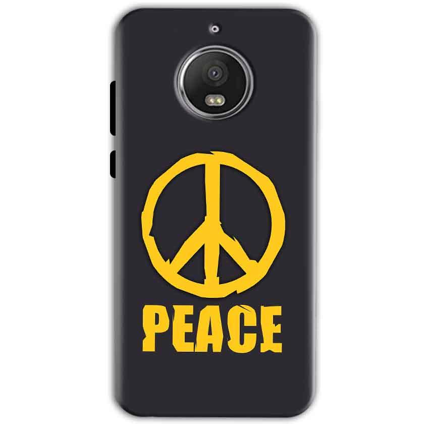 Motorola Moto G5 S Plus Mobile Covers Cases Peace Blue Yellow - Lowest Price - Paybydaddy.com