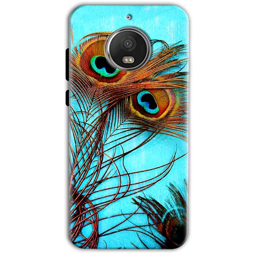 Motorola Moto G5 S Plus Mobile Covers Cases Peacock blue wings - Lowest Price - Paybydaddy.com