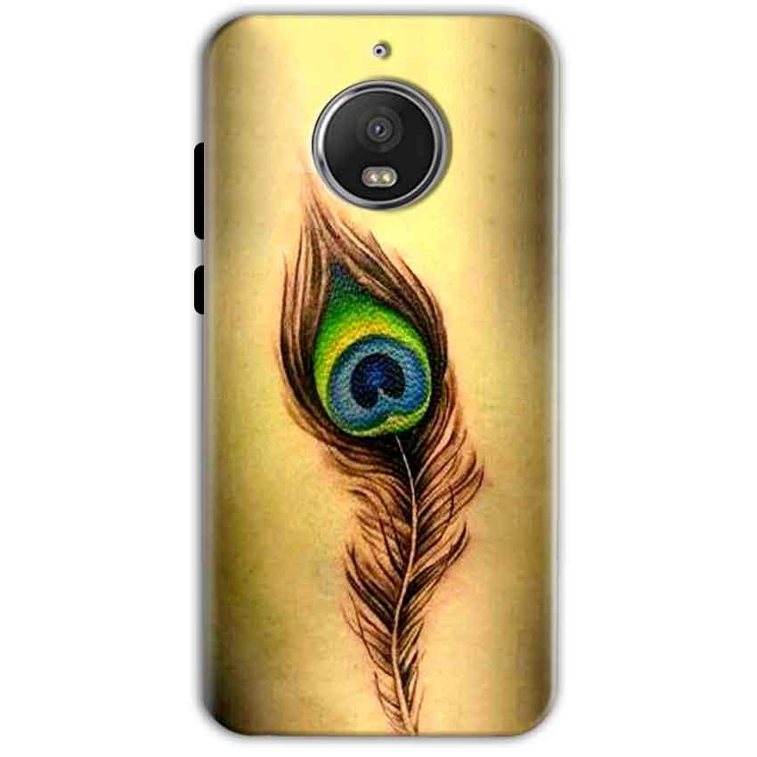 Motorola Moto G5 S Plus Mobile Covers Cases Peacock coloured art - Lowest Price - Paybydaddy.com