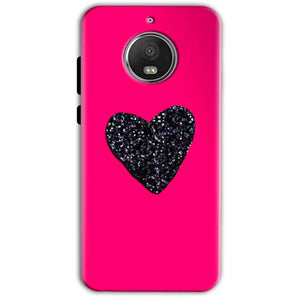 Motorola Moto G5 S Plus Mobile Covers Cases Pink Glitter Heart - Lowest Price - Paybydaddy.com