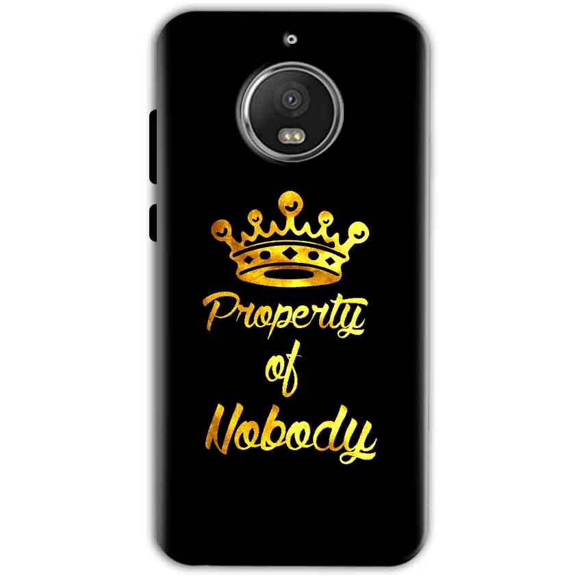 Motorola Moto G5 S Plus Mobile Covers Cases Property of nobody with Crown - Lowest Price - Paybydaddy.com