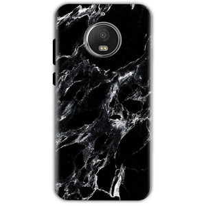 Motorola Moto G5 S Plus Mobile Covers Cases Pure Black Marble Texture - Lowest Price - Paybydaddy.com