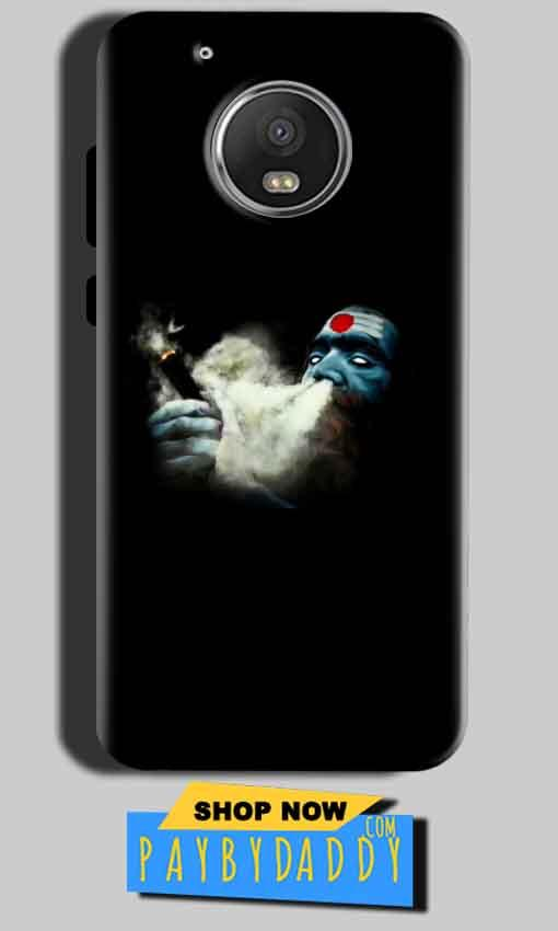 Motorola Moto G5 Mobile Covers Cases Shiva Aghori Smoking - Lowest Price - Paybydaddy.com