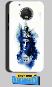 Motorola Moto G5 Mobile Covers Cases Shiva Blue White - Lowest Price - Paybydaddy.com