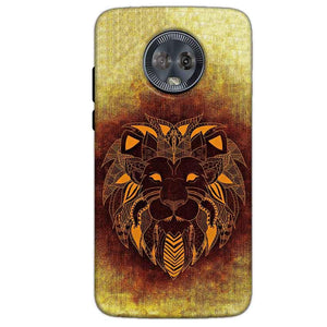 Motorola Moto G6 Mobile Covers Cases Lion face art - Lowest Price - Paybydaddy.com