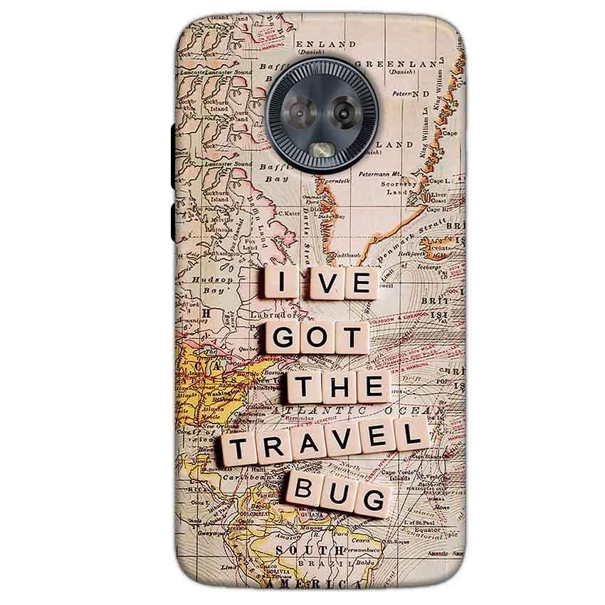 Motorola Moto G6 Mobile Covers Cases Live Travel Bug - Lowest Price - Paybydaddy.com