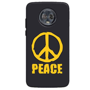 Motorola Moto G6 Mobile Covers Cases Peace Blue Yellow - Lowest Price - Paybydaddy.com
