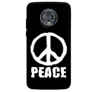 Motorola Moto G6 Mobile Covers Cases Peace Sign In White - Lowest Price - Paybydaddy.com