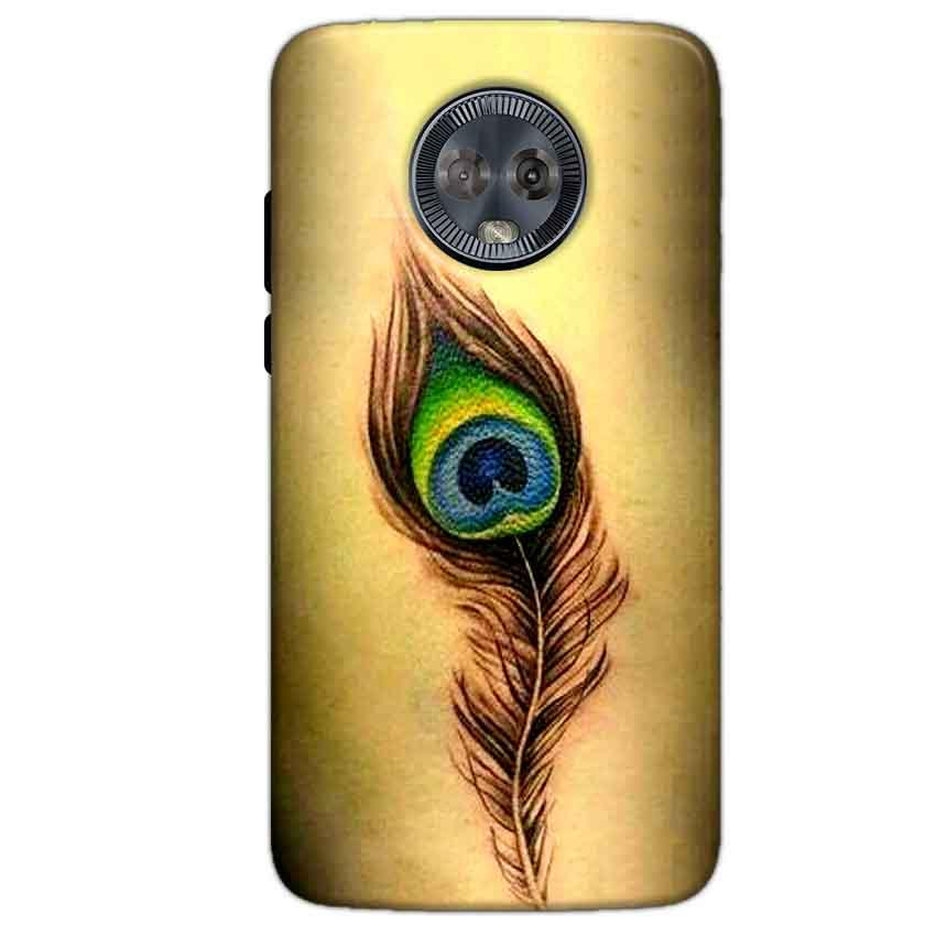 Motorola Moto G6 Mobile Covers Cases Peacock coloured art - Lowest Price - Paybydaddy.com