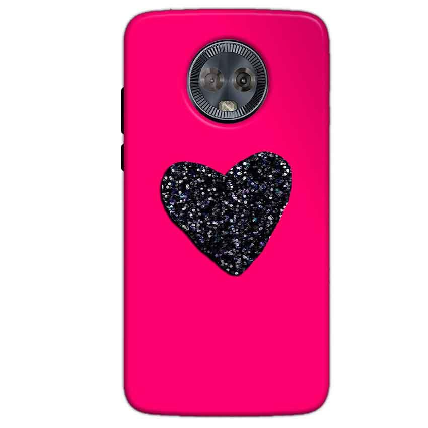 Motorola Moto G6 Mobile Covers Cases Pink Glitter Heart - Lowest Price - Paybydaddy.com