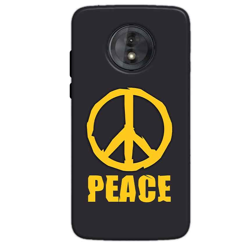 Motorola Moto G6 Play Without Cut Mobile Covers Cases Peace Blue Yellow - Lowest Price - Paybydaddy.com