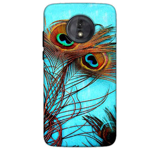 Motorola Moto G6 Play Without Cut Mobile Covers Cases Peacock blue wings - Lowest Price - Paybydaddy.com