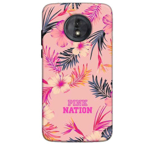 Motorola Moto G6 Play Without Cut Mobile Covers Cases Pink nation - Lowest Price - Paybydaddy.com
